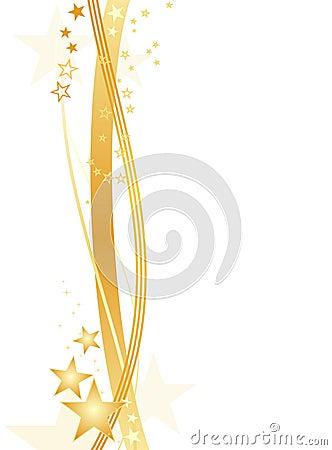 空白边界金黄的星形