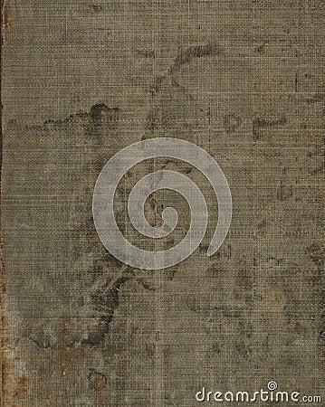 布料亚麻制老被弄脏的纹理