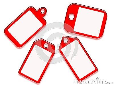 红色形状标记差异