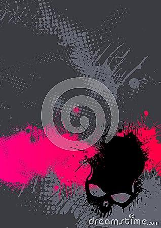 抽象灰色桃红色海报