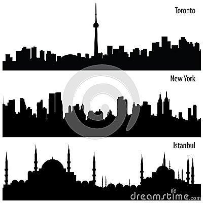 都市风景收集向量