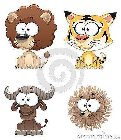 滑稽非洲的动物