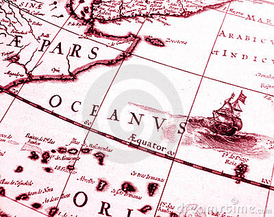 古色古香的图表详述航行