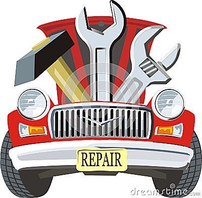 被修理的汽车
