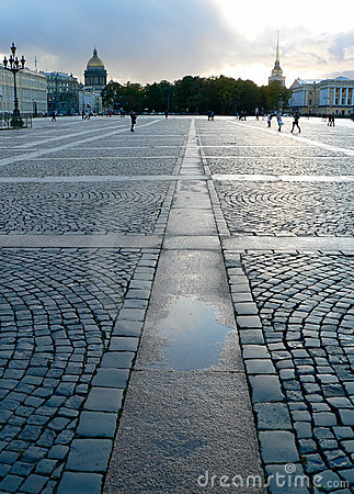 宫殿彼得斯堡圣徒正方形