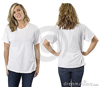 空白女性衬衣白色