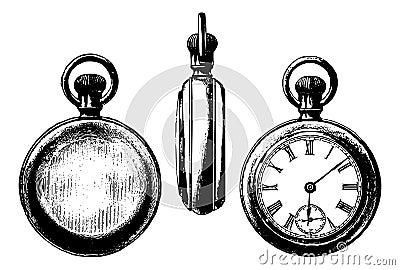 古色古香的图象矿穴三视图手表