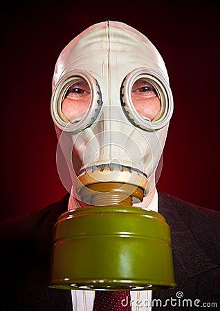πρόσωπο μασκών αερίου