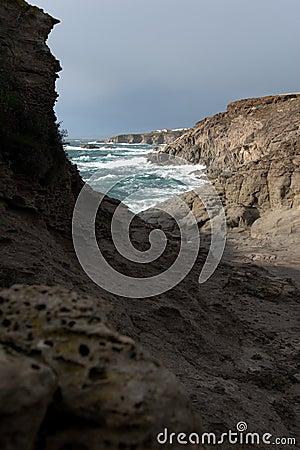 岩石的海岸
