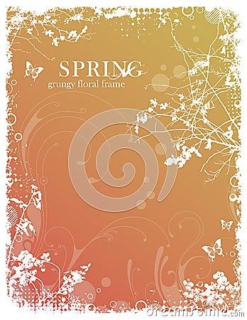 花卉框架春天