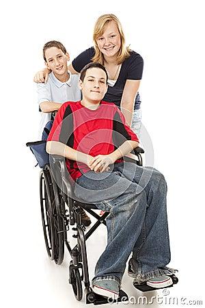 残疾组开玩笑一
