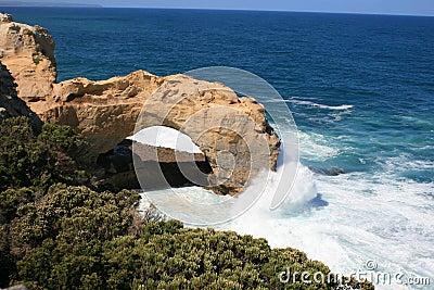 曲拱澳洲极大的海洋路维多利亚