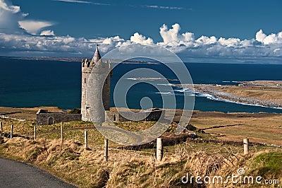 запад Ирландии стародедовского замока ирландский старый