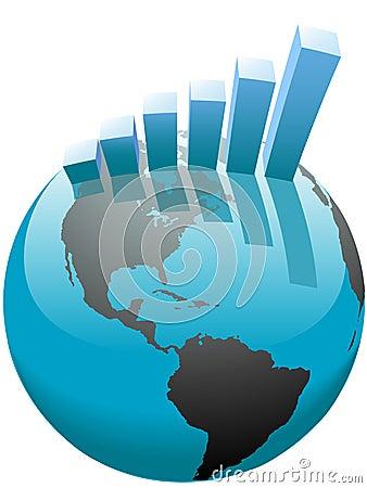 棒企业全球图形增长世界