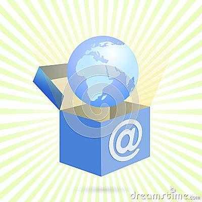 配件箱家庭互联网向量