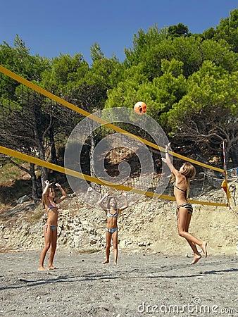 волейбол игры детей пляжа