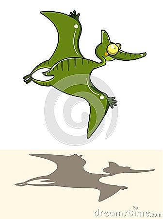 летание динозавра