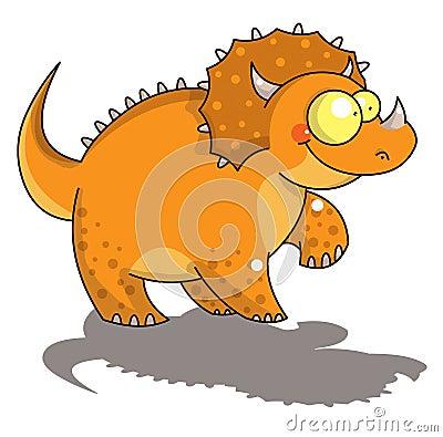 滑稽的三角恐龙