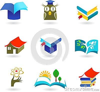 教育和教育图标集