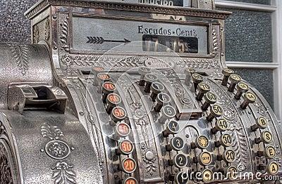 античный кассовый аппарат