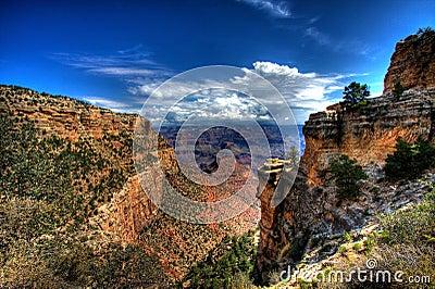 峡谷全部风景视图