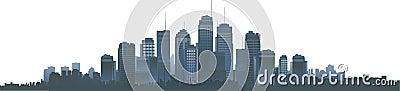 都市风景剪影向量
