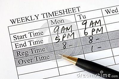 装载的页时间每星期