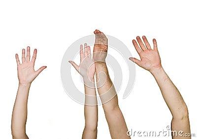 руки подняли