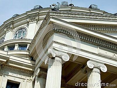 雅典庙宇透视图