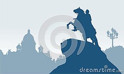 Άγιος Πετρούπολη, Ρωσία, ιππέας χαλκού