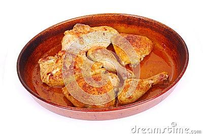 鸡葡萄牙烤了
