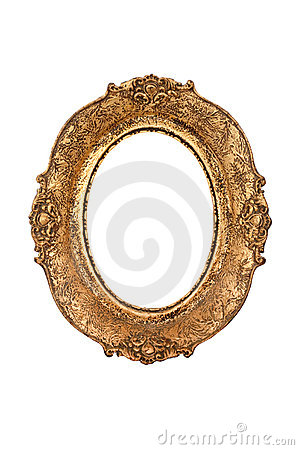 рамка золотистая