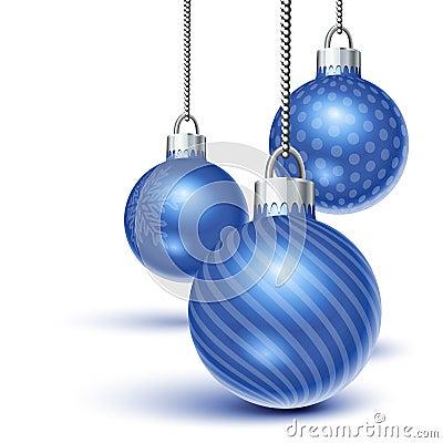 蓝色圣诞节装饰品