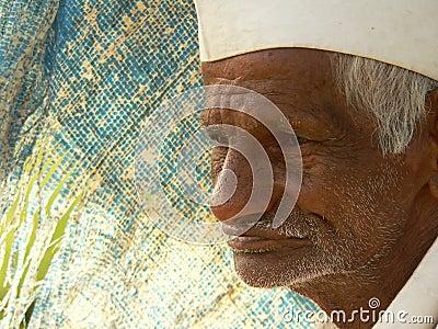 农夫印第安贫寒 图库摄影片