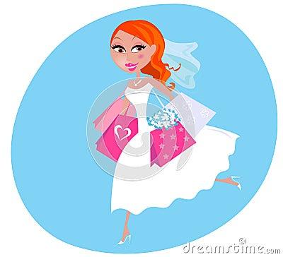 新娘例证购物