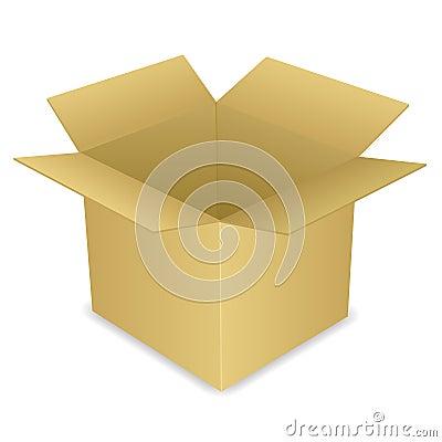 开放配件箱的纸板