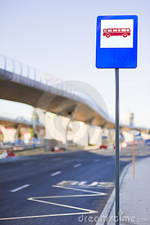 Σημάδι στάσεων λεωφορείου