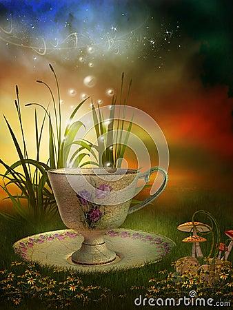 杯子神仙的庭院瓷