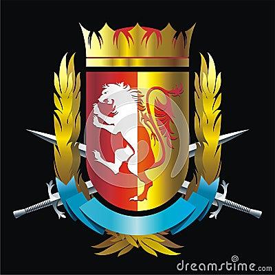 与狮子的徽章