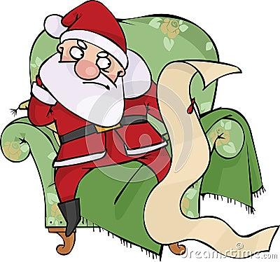 恼怒的圣诞老人