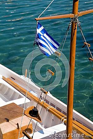 标志希腊船