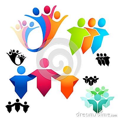 соединенные символы людей