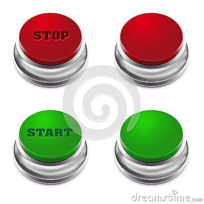 застегните зеленый красный стоп старта