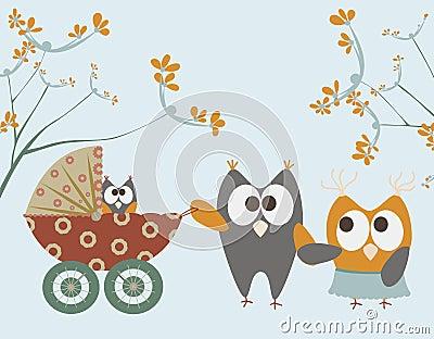 小猫头鹰婴儿推车
