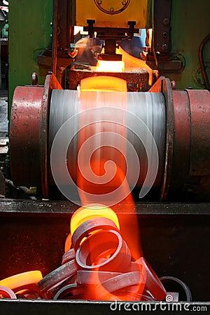 горячий красный цвет металла