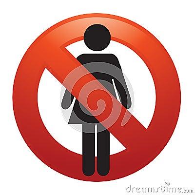 женщина отсутствие знака
