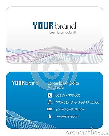 голубая визитная карточка