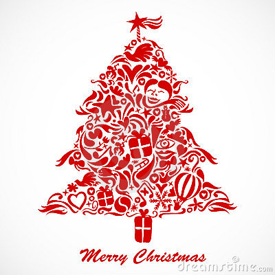 вал красного цвета рождества