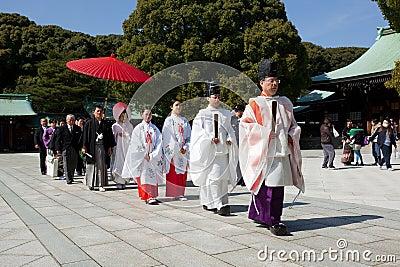 日本婚礼 编辑类库存图片