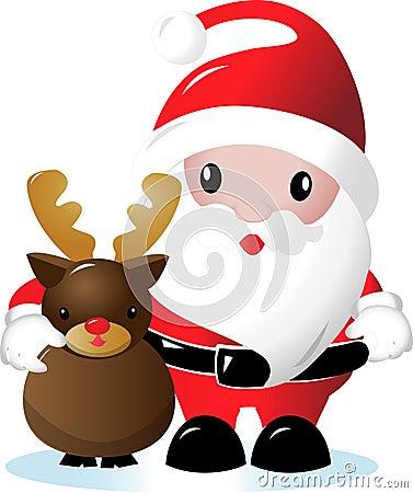 例证驯鹿圣诞老人